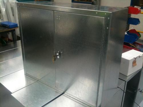 Lockable Cabinet Side View