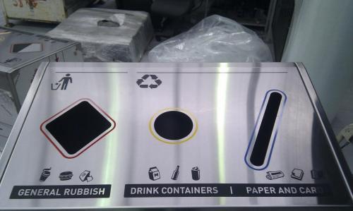 Public Recycle Bin - Top view